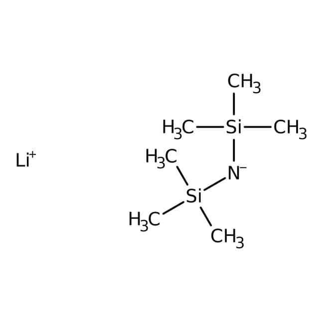 Bis-(trimethylsilyl)-lithiumamid, 1 M Lösung in THF/Ethylbenzol, AcroSeal™, Acros Organics™ 800 ml; AcroSeal Glasflasche Bis-(trimethylsilyl)-lithiumamid, 1 M Lösung in THF/Ethylbenzol, AcroSeal™, Acros Organics™
