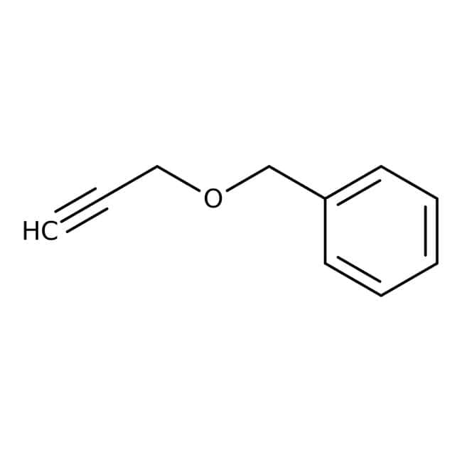 Benzyl propargyl ether, 97%, ACROS Organics™ 5g; Glass bottle Benzyl propargyl ether, 97%, ACROS Organics™
