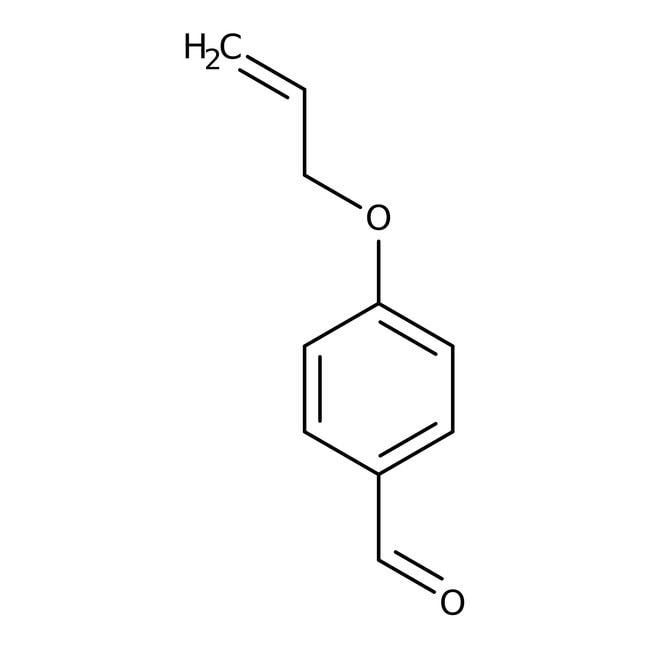 4-Allyloxybenzaldehyde, 98%, Acros Organics 25g; Glass bottle 4-Allyloxybenzaldehyde, 98%, Acros Organics