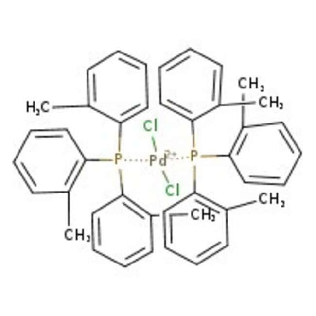 Bis[tri(o-tolyl)phosphine]palladium(II) chloride, 95%, ACROS Organics