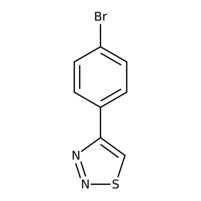 4-(4-Bromophenyl)-1,2,3-thiadiazole, 97%, Maybridge