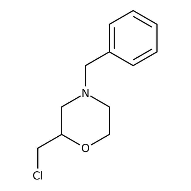 4-Benzyl-2-(chloromethyl)morpholine, 97%, Maybridge™ Amber Glass Bottle; 10g 4-Benzyl-2-(chloromethyl)morpholine, 97%, Maybridge™
