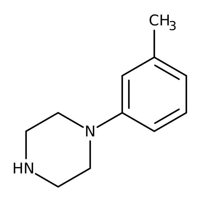 1-(3-Methylphenyl)piperazine, 99%, ACROS Organics™ 5g; Glass bottle 1-(3-Methylphenyl)piperazine, 99%, ACROS Organics™