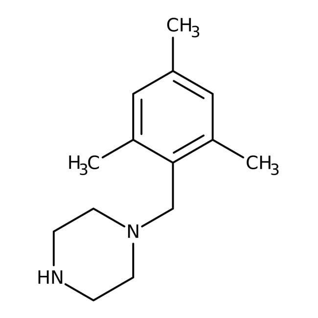 Alfa Aesar™1-(2,4,6-Trimethylbenzyl)piperazine, 97%