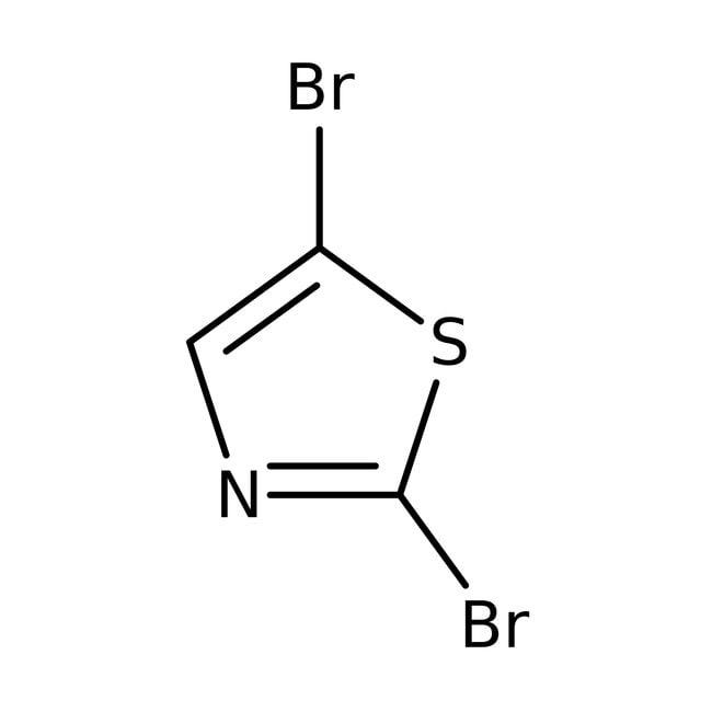 2,5-Dibromotiazol, 97%, ACROS Organics™ 5g; frasco de vidrio 2,5-Dibromotiazol, 97%, ACROS Organics™