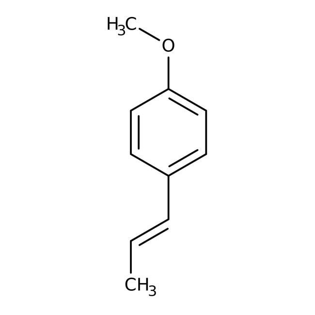 trans-Anethole, 99%, ACROS Organics™ 100mL; Glass bottle trans-Anethole, 99%, ACROS Organics™