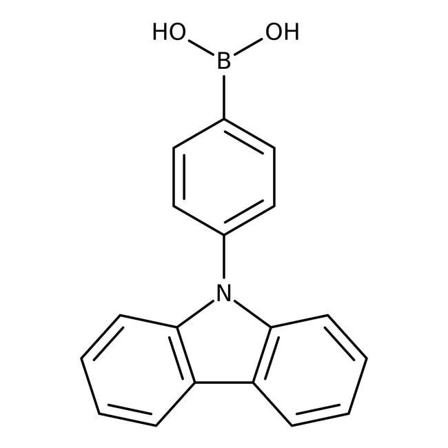 Alfa Aesar™4-(9-Carbazolyl)benzeneboronic acid, 98% 250mg Alfa Aesar™4-(9-Carbazolyl)benzeneboronic acid, 98%