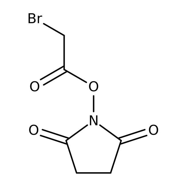 Ester N-hydroxysuccinimide d'acide bromoacétique, 90%, Acros Organics™ 5g Ester N-hydroxysuccinimide d'acide bromoacétique, 90%, Acros Organics™