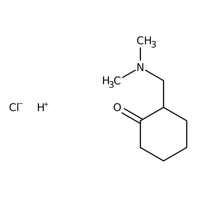 2-(Dimethylaminomethyl)-1-cyclohexanone hydrochloride, 98%, ACROS Organics