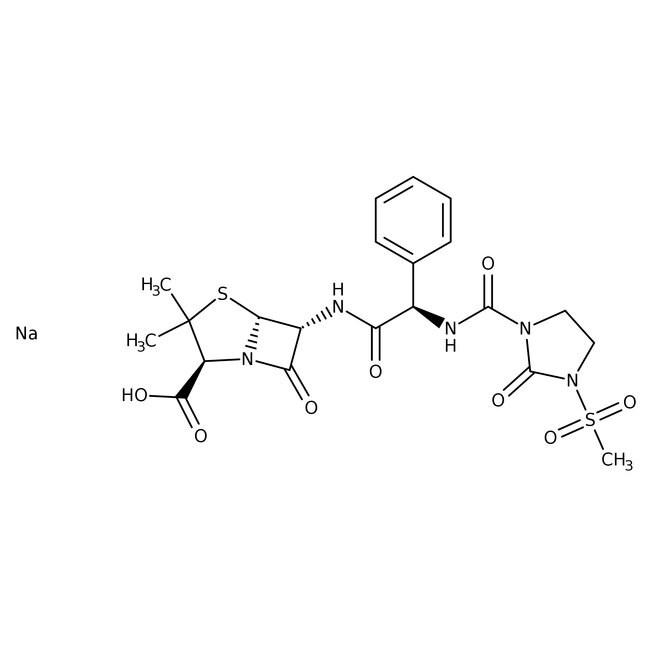 Mezlocillin sodium, 97%, ACROS Organics™ 1g Mezlocillin sodium, 97%, ACROS Organics™