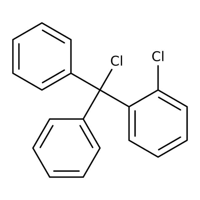 Alfa Aesar™2-Chlorotrityl chloride on polystyrene, 1% cross-linked, 100-200 mesh, 1.0-1.4 mmol/g