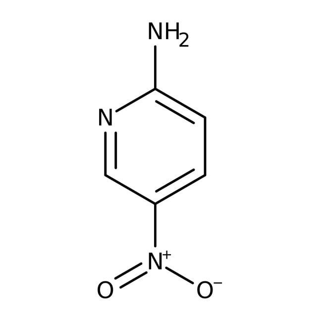 2-Amino-5-nitropyridine, 99%, ACROS Organics™ 25g; Glass bottle 2-Amino-5-nitropyridine, 99%, ACROS Organics™
