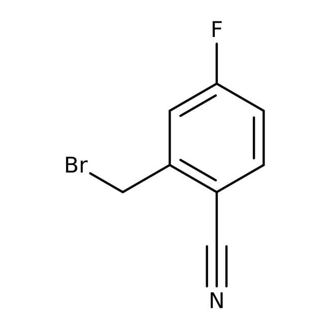 Alfa Aesar™2-Bromomethyl-4-fluorobenzonitrile, 98% 1g Alfa Aesar™2-Bromomethyl-4-fluorobenzonitrile, 98%