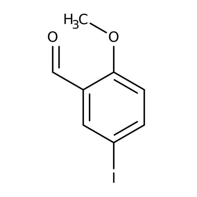 Alfa Aesar™5-Jod-2-Methoxybenzaldehyd, 97% 5g Alfa Aesar™5-Jod-2-Methoxybenzaldehyd, 97%