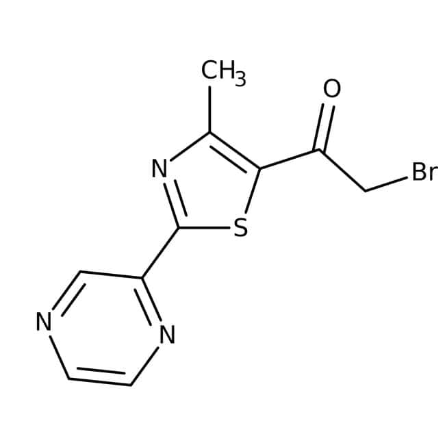 2-Bromo-1-[4-methyl-2-(2-pyrazinyl)-1,3-thiazol-5-yl]-1-ethanone, ≥90%, Maybridge™