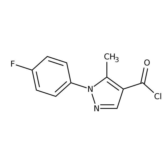 1-(4-Fluorophenyl)-5-methyl-1H-pyrazole-4-carbonyl chloride, 97%, Maybridge