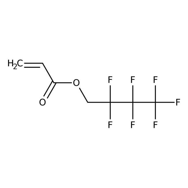 Alfa Aesar™2,2,3,3,4,4,4-Heptafluorobutyl acrylate, 97%, stab. with 100 ppm 4-methoxyphenol