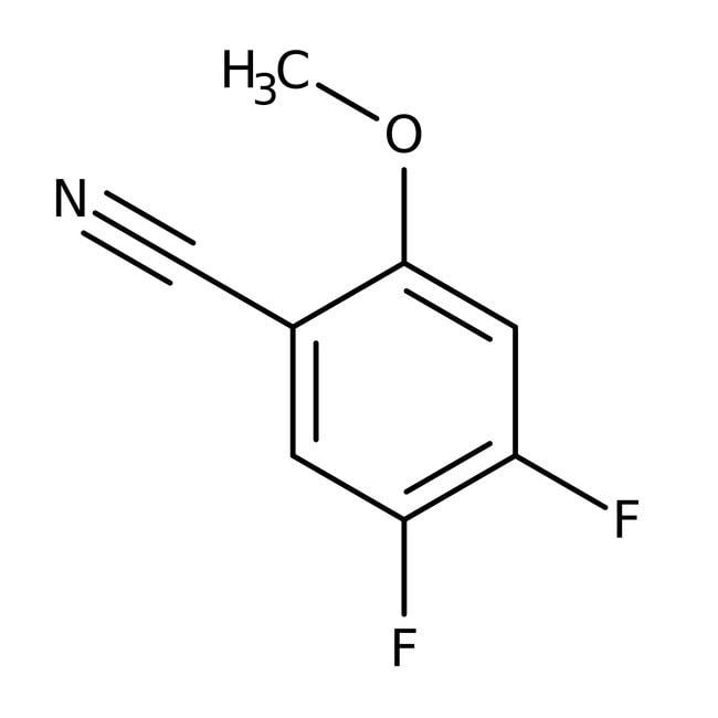 Alfa Aesar™4,5-Difluoro-2-methoxybenzonitrile, 99% 250mg Alfa Aesar™4,5-Difluoro-2-methoxybenzonitrile, 99%