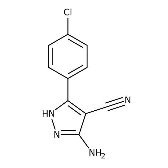 5-Amino-3-(4-chlorophenyl)-1H-pyrazole-4-carbonitrile, 97%, Maybridge