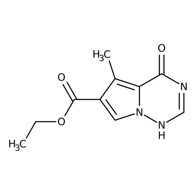 Ethyl 5-methyl-4-oxo-3,4-dihydropyrrolo[2,1-f]-1,2,4-triazine-6-carboxylate, 97%, Alfa Aesar™