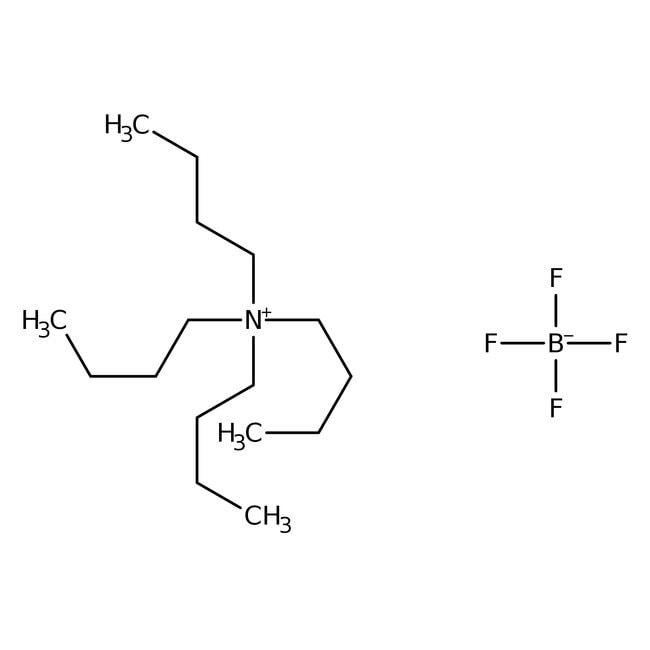 Tetrabutylammonium tetrafluoroborate, 98%, ACROS Organics™ 100g; Plastic bottle Tetrabutylammonium tetrafluoroborate, 98%, ACROS Organics™