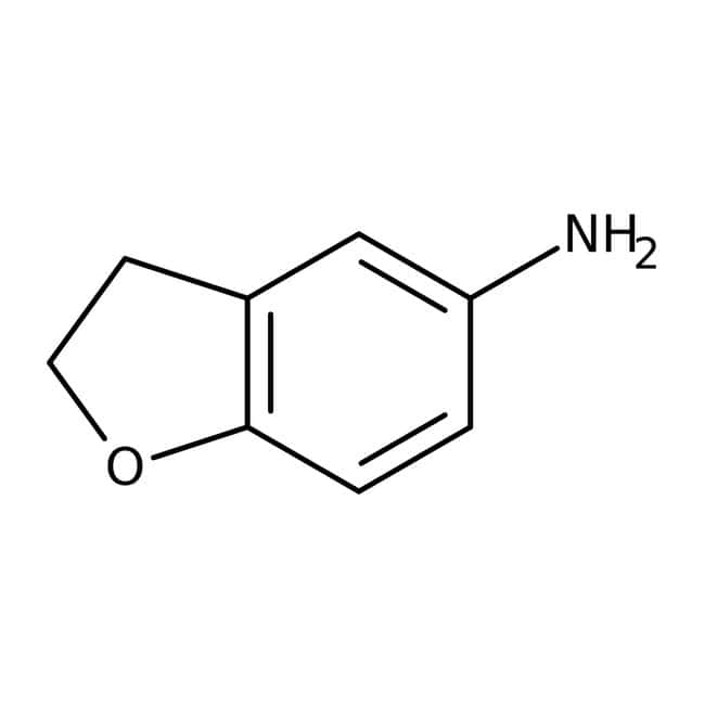 5-Amino-2,3-dihydrobenzofuran, 97%, ACROS Organics™ 1g; Glass bottle 5-Amino-2,3-dihydrobenzofuran, 97%, ACROS Organics™
