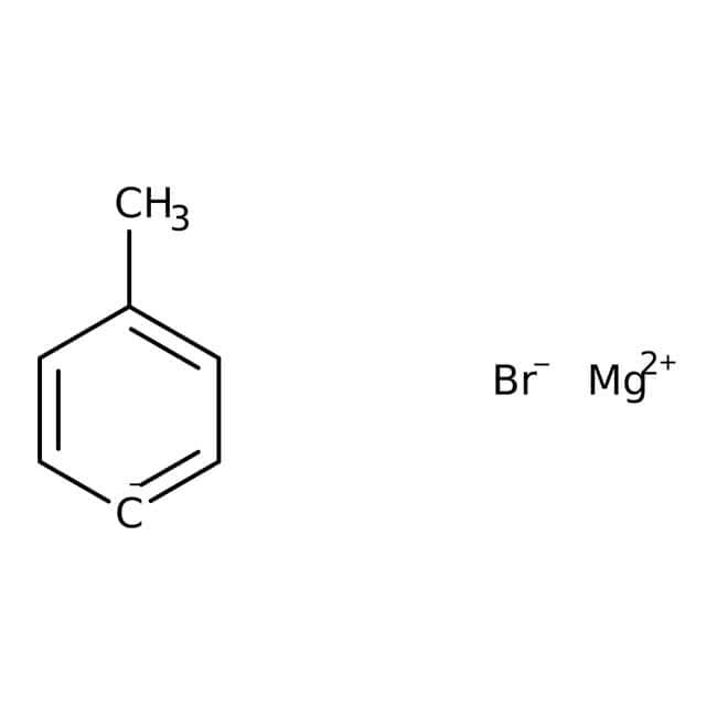 p-Tolylmagnesium bromide, approx. 0.5M solution in diethyl ether, AcroSeal™, ACROS Organics™ 100mL, AcroSeal Glass bottle p-Tolylmagnesium bromide, approx. 0.5M solution in diethyl ether, AcroSeal™, ACROS Organics™