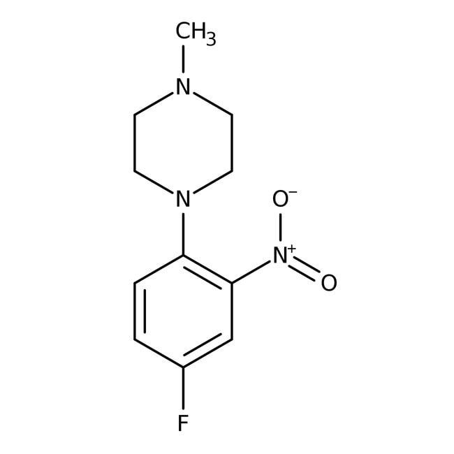 Alfa Aesar™1-(4-Fluoro-2-nitrophenyl)-4-methylpiperazine, 97% 1g Alfa Aesar™1-(4-Fluoro-2-nitrophenyl)-4-methylpiperazine, 97%