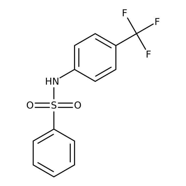 N-[4-(Trifluoromethyl)phenyl]benzenesulfonamide, 97%, Alfa Aesar™ 250mg N-[4-(Trifluoromethyl)phenyl]benzenesulfonamide, 97%, Alfa Aesar™