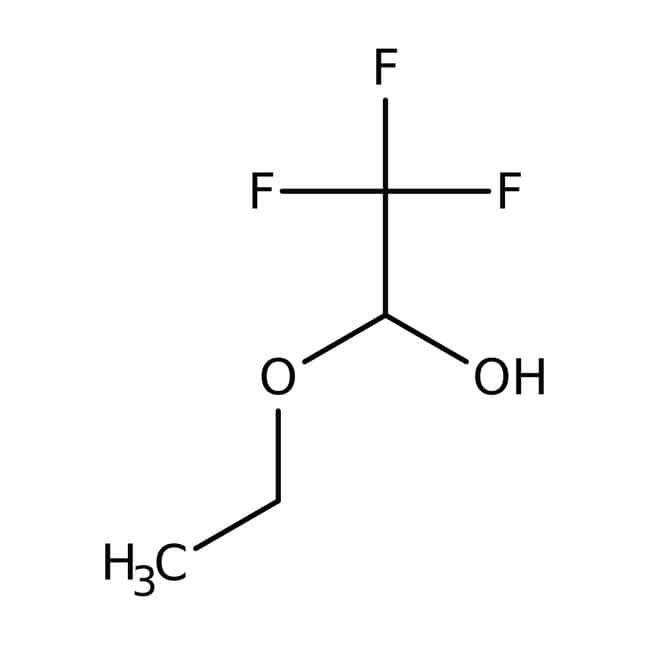 Trifluoroacetaldehyde ethyl hemiacetal, 90%, Acros Organics 5mL; Glass bottle prodotti trovati