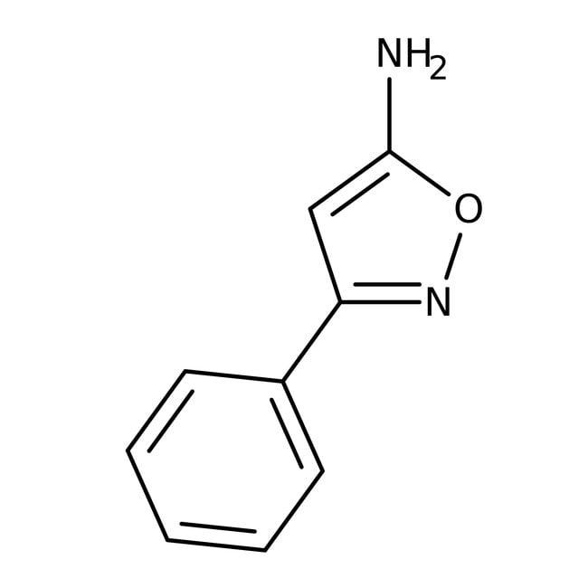 5-Amino-3-phenylisoxazole, 97%, ACROS Organics™ 1g; Glass bottle 5-Amino-3-phenylisoxazole, 97%, ACROS Organics™