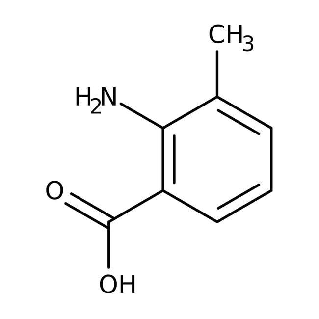 2-Amino-3-methylbenzoesäure, 98%, ACROS Organics™ 50 g-Glasflasche 2-Amino-3-methylbenzoesäure, 98%, ACROS Organics™