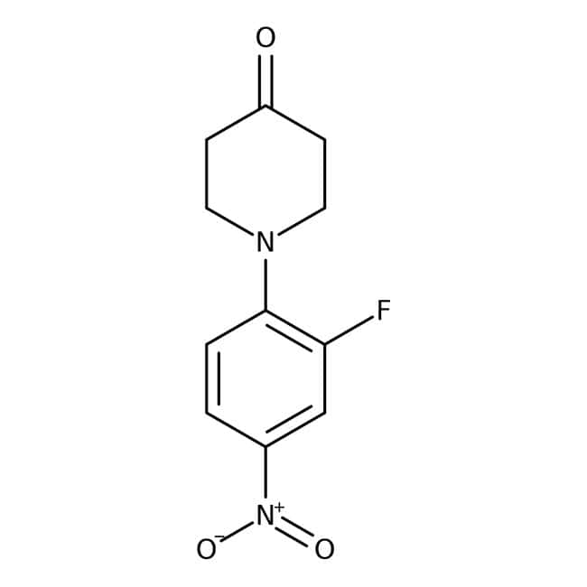 Alfa Aesar™1-(2-Fluoro-4-nitrophenyl)-4-piperidone, 97% 250mg Alfa Aesar™1-(2-Fluoro-4-nitrophenyl)-4-piperidone, 97%
