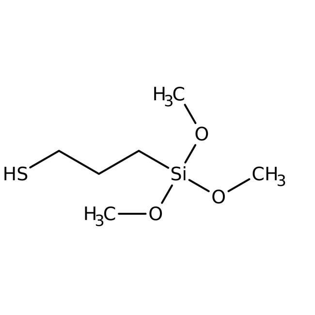 (3-Mercaptopropyl)trimethoxysilane, 85%, Tech., ACROS Organics™ 250g; Glass bottle (3-Mercaptopropyl)trimethoxysilane, 85%, Tech., ACROS Organics™