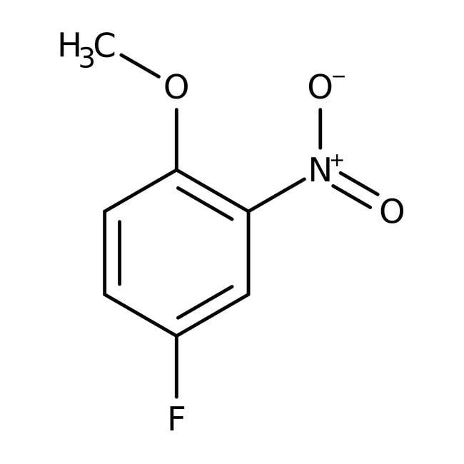 Alfa Aesar™4-Fluoro-2-nitroanisole, 98% 25g Alfa Aesar™4-Fluoro-2-nitroanisole, 98%