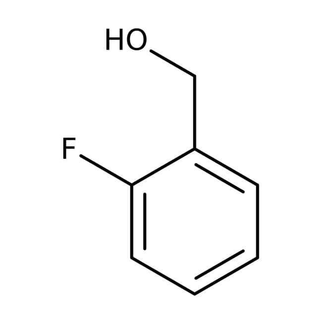 2-Fluorobenzyl alcohol, 98%, ACROS Organics™ 25g; Glass bottle Benzyl alcohols