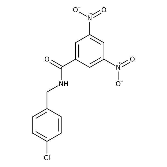 Alfa Aesar™N-(4-Chlorobenzyl)-3,5-Dinitrobenzamid, 97% 100mg Alfa Aesar™N-(4-Chlorobenzyl)-3,5-Dinitrobenzamid, 97%