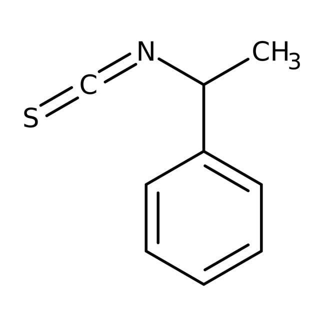 Alfa Aesar™Isotiocianato de (+/-)-1-feniletilo, 97% 5g Alfa Aesar™Isotiocianato de (+/-)-1-feniletilo, 97%