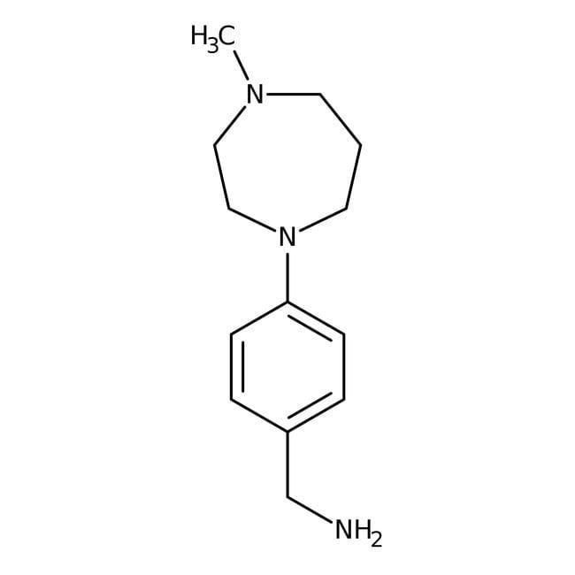 4-(4-Methylperhydro-1,4-diazepin-1-yl)benzylamin, 97%, Maybridge Braunglasflasche, 1g 4-(4-Methylperhydro-1,4-diazepin-1-yl)benzylamin, 97%, Maybridge
