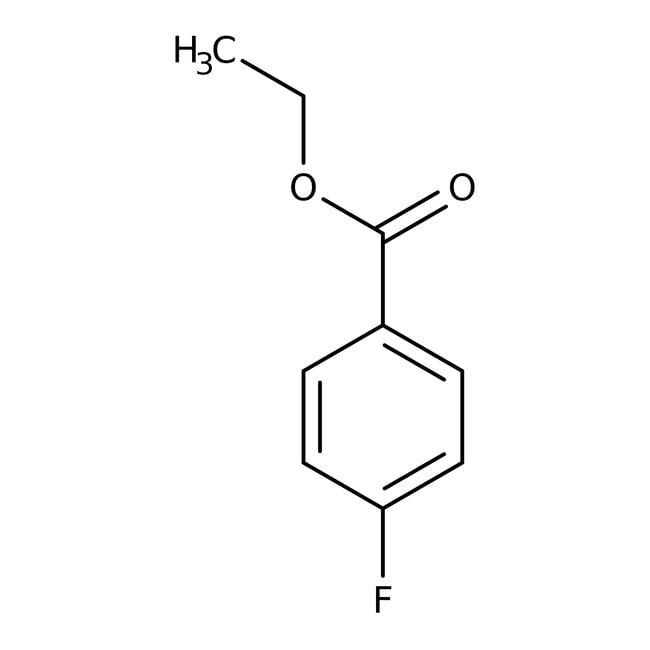 Ethyl 4-fluorobenzoate, 99%, ACROS Organics™ 100g; Glass bottle Ethyl 4-fluorobenzoate, 99%, ACROS Organics™