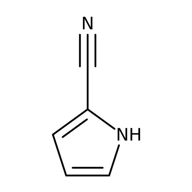 Pyrrol-2-carbonitril, 97%, ACROS Organics™ 5 g-Glasflasche Pyrrol-2-carbonitril, 97%, ACROS Organics™