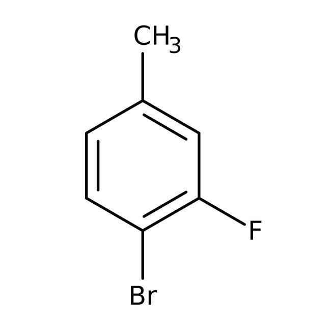 4-Bromo-3-fluorotoluene, 98%, ACROS Organics™ 5g; Glass bottle 4-Bromo-3-fluorotoluene, 98%, ACROS Organics™