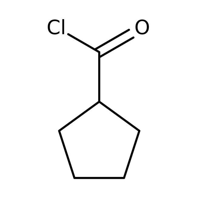 Cyclopentanecarbonyl chloride, 98%, ACROS Organics™ 100g; Glass bottle Cyclopentanecarbonyl chloride, 98%, ACROS Organics™