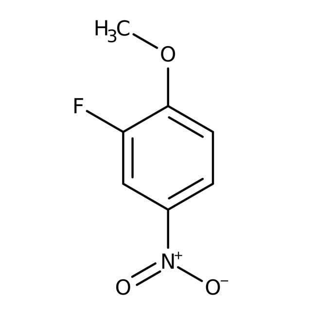 2-Fluoro-4-nitroanisole, 98%, ACROS Organics™ 1g, Glass bottle 2-Fluoro-4-nitroanisole, 98%, ACROS Organics™