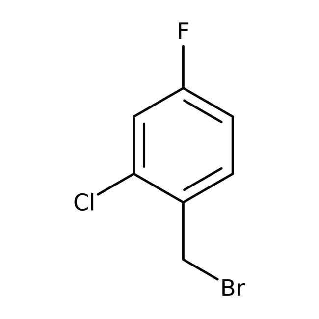 Alfa Aesar™2-Chloro-4-fluorobenzyl bromide, 97% 5g Alfa Aesar™2-Chloro-4-fluorobenzyl bromide, 97%