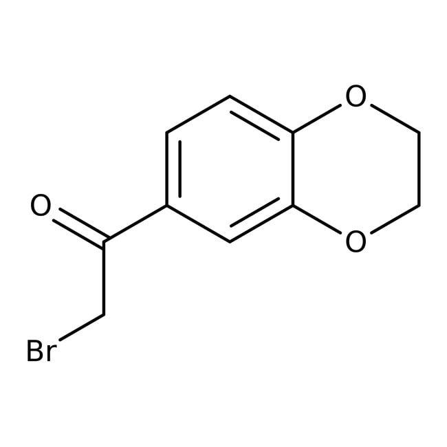 2-Brom-1-(2,3-dihydro-1,4-benzodioxin-6-yl)-ethan-1-on, Maybridge Braunglasflasche, 1g 2-Brom-1-(2,3-dihydro-1,4-benzodioxin-6-yl)-ethan-1-on, Maybridge
