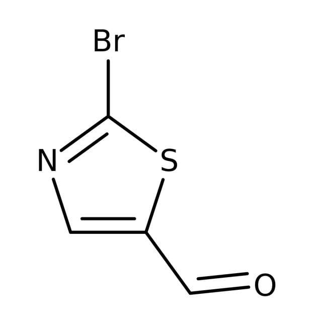2-Bromotiazol-5-carboxaldehído, 97%, ACROS Organics™ 5g; frasco de vidrio 2-Bromotiazol-5-carboxaldehído, 97%, ACROS Organics™