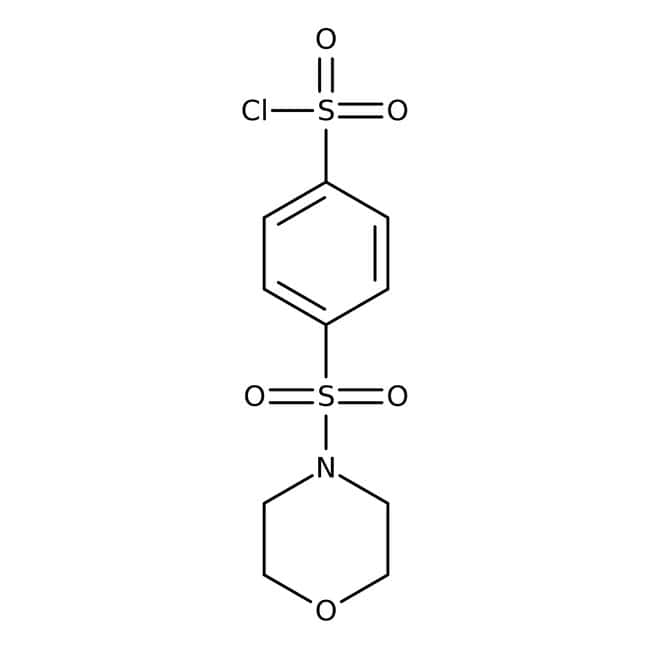 4-(Morpholine-4-sulfonyl)-benzenesulfonyl chloride, Technical Grade, Maybridge™ Amber Glass Bottle; 10g 4-(Morpholine-4-sulfonyl)-benzenesulfonyl chloride, Technical Grade, Maybridge™