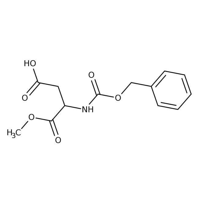 Alfa Aesar™N-Benzyloxycarbonyl-L-aspartic acid 1-methyl ester, 98% 1g Alfa Aesar™N-Benzyloxycarbonyl-L-aspartic acid 1-methyl ester, 98%