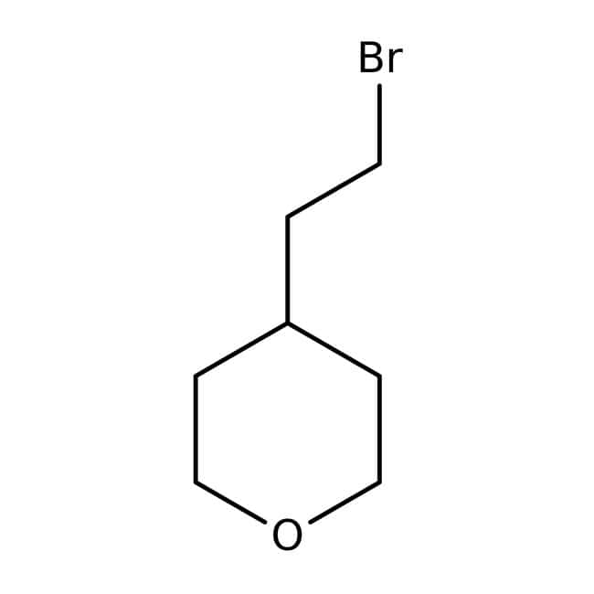 4-(2-Bromethyl)tetrahydropyran, 97 %, Maybridge Braunglasflasche, 1 g 4-(2-Bromethyl)tetrahydropyran, 97 %, Maybridge